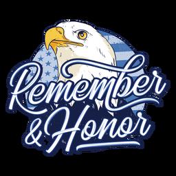 Insignia del día de los veteranos del águila