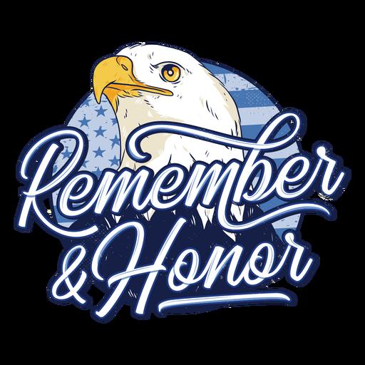 Eagle veterans day badge