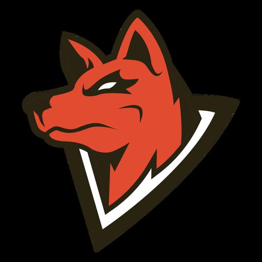 Evil wolf triangle logo