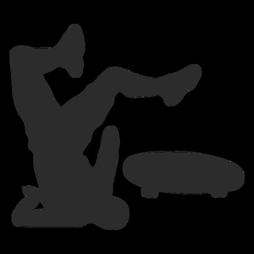 Face crash skate silhouette