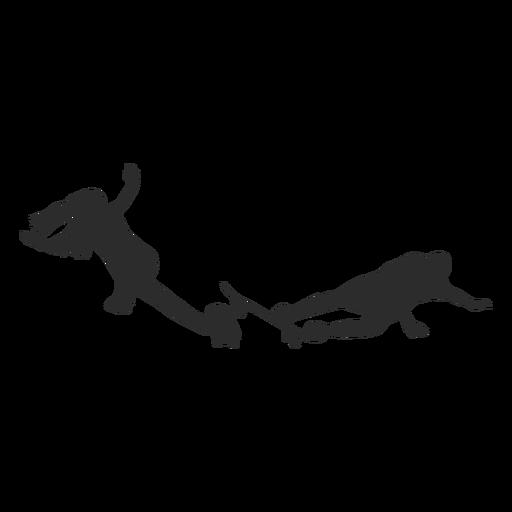 Female male skater crash silhouette Transparent PNG