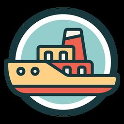 Logotipo de círculo vintage de ferry