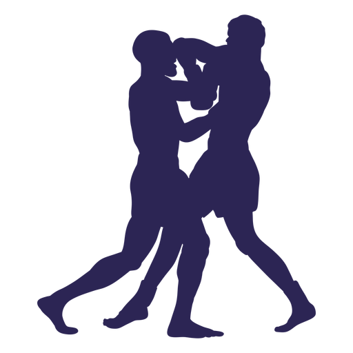 Lucha contra la silueta del deporte de kickboxing