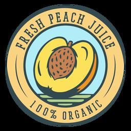 Etiqueta orgánica de jugo de durazno fresco