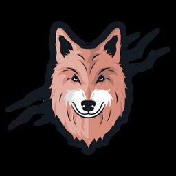 Front wolf scar logo