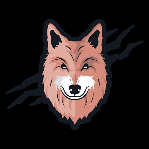 Logotipo da cicatriz de lobo frontal