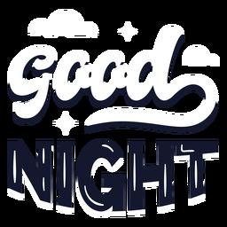 Buenas noches letras nubladas