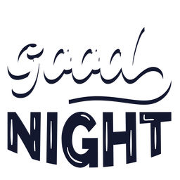 Good night cloudy lettering