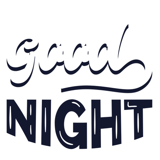 Good night cloudy lettering Transparent PNG