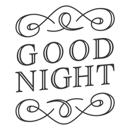 Good night vintage label