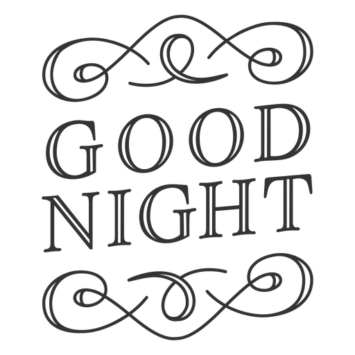 Good night vintage label