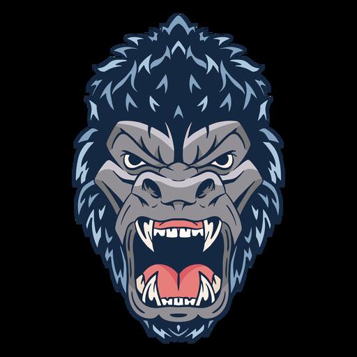 Ilustração de rosto de gorila