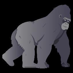 Ilustración de especie de mono gorila