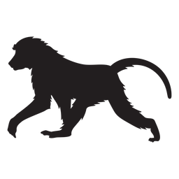 Silhueta de babuíno da Guiné