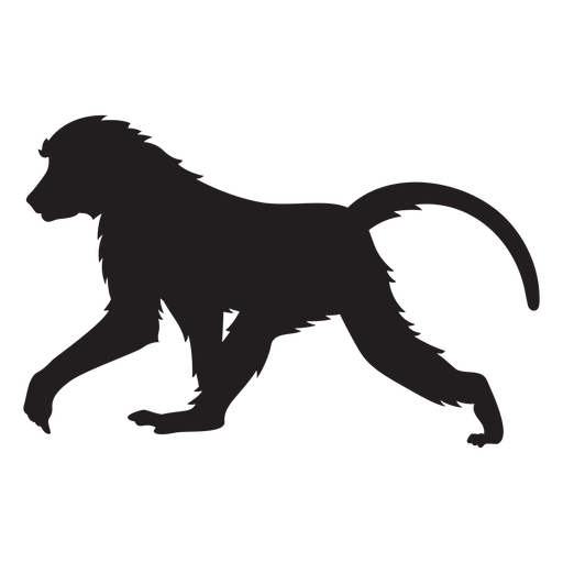 Guinea baboon silhouette Transparent PNG
