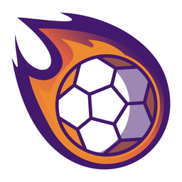 Handball ball fire logo