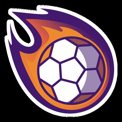 Logotipo de fuego de pelota de balonmano