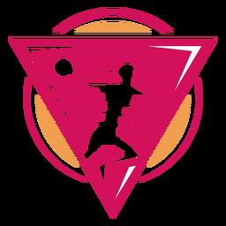 Logotipo da jogadora de handebol feminino