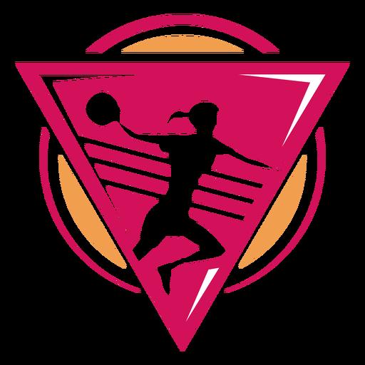 Handball female player logo