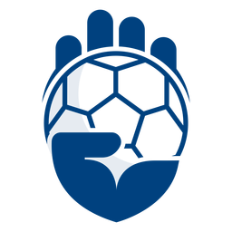Logotipo da mão de handebol