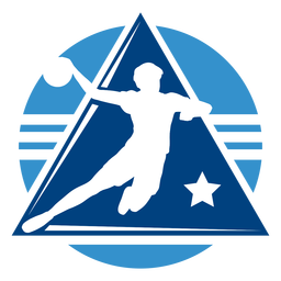Handball male player logo