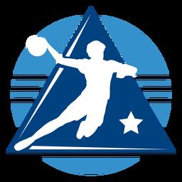 Logotipo do jogador masculino de handebol