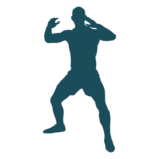 Hands up rugby player silhouette Transparent PNG