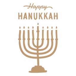 Happy hanukkah menorah badge