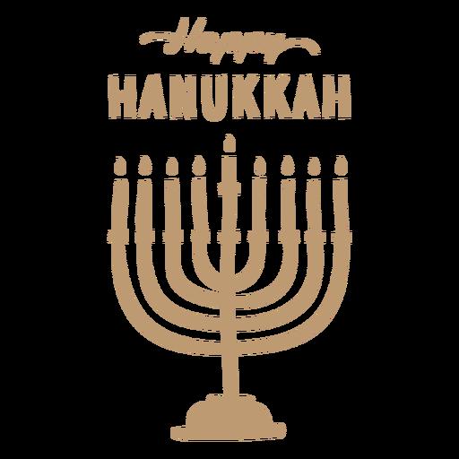 Happy hanukkah menorah badge
