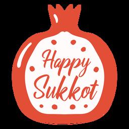 Happy sukkot pomegrante badge