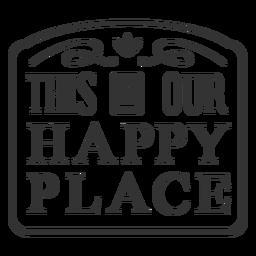 Happy place vintage label