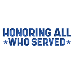 Honoring who served veterans lettering