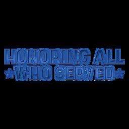 Honrando a quienes sirvieron a los veteranos