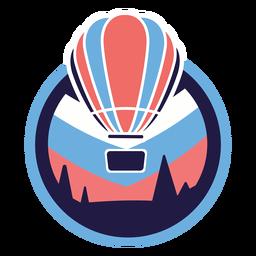 Logotipo do balão de ar quente dos pinheiros