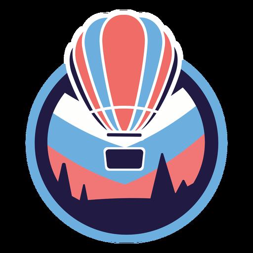 Hot air balloon pines logo Transparent PNG