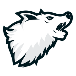 Howling wolf side logo