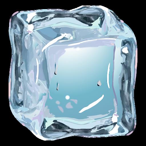 Ice cube realistic