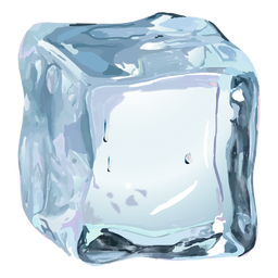 Ice cube realistic illustration