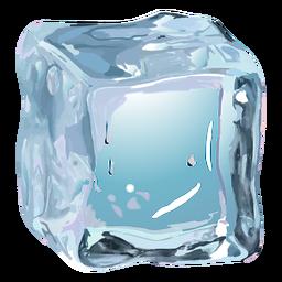 Ilustración realista de cubo de hielo