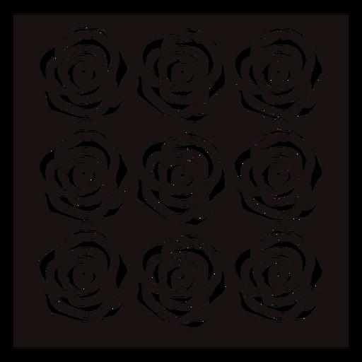 Plantilla de rosas de grupo idéntico