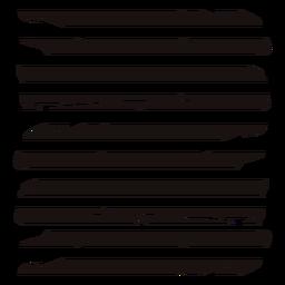 Trazo de composición de líneas interrumpidas