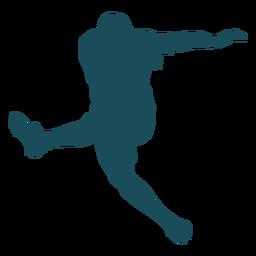 Saltar patear silueta de jugador de rugby