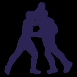 Kickboxers lutam silhueta do esporte