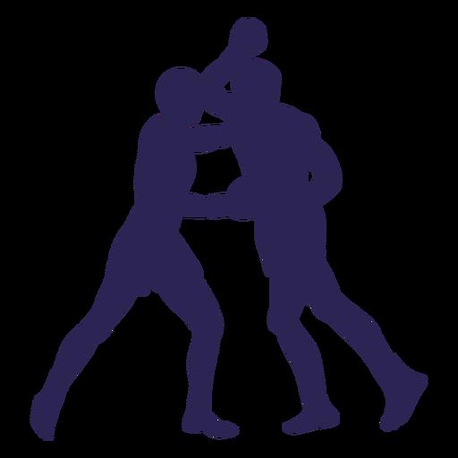 Kickboxers fight sport silhouette