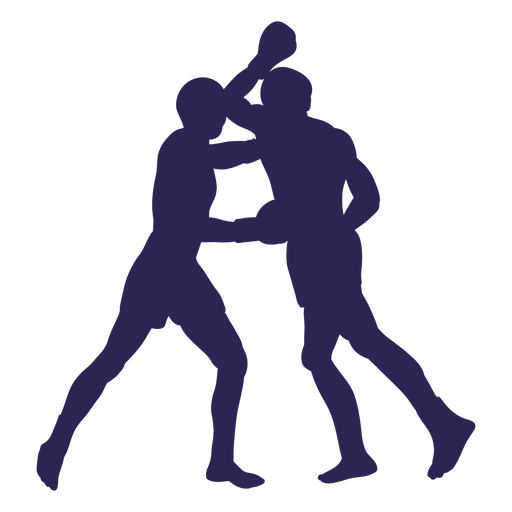 Kickboxers lucha silueta deportiva
