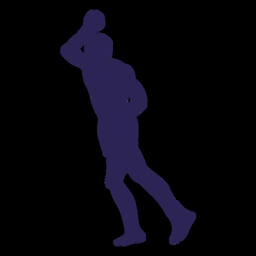 Kickboxing attack silhouette