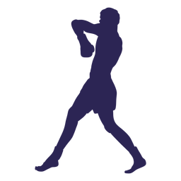 Kickboxing defense silhouette