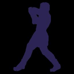 Silhueta de defesa de kickboxing