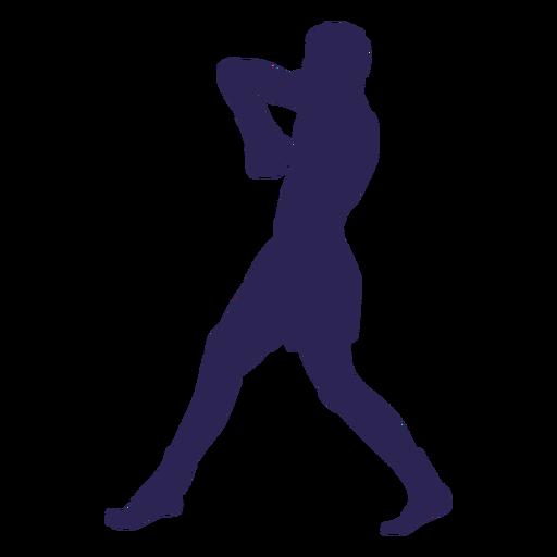 Silueta de defensa de kickboxing