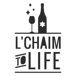 Lchaim to life bottle badge